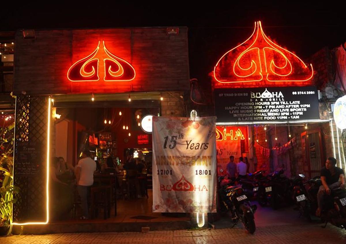 Bar Buddha trên đường Thảo Điền. Ảnh: Buddha.