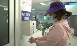 Bệnh viện chế máy rửa tay tự động