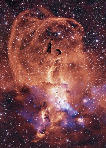 Ảnh chụp tinh vân NGC 3576 của Đài quan sát tia X Chandra năm 2013. Ảnh: NASA.