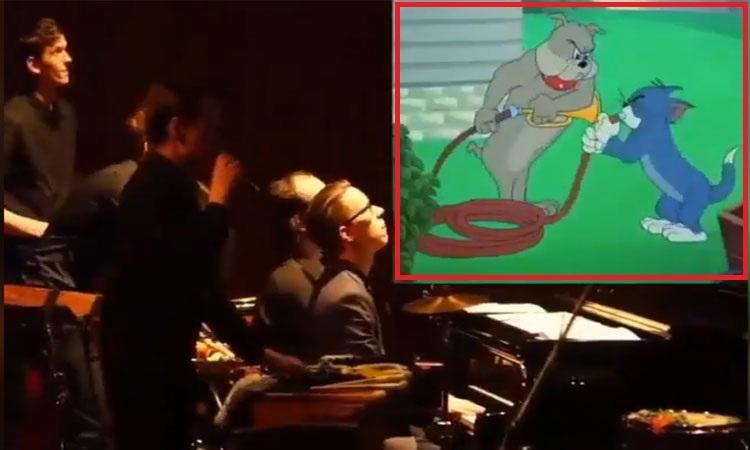 Dàn nhạc giao hưởng lồng nhạc trực tiếp cho Tom and Jerry