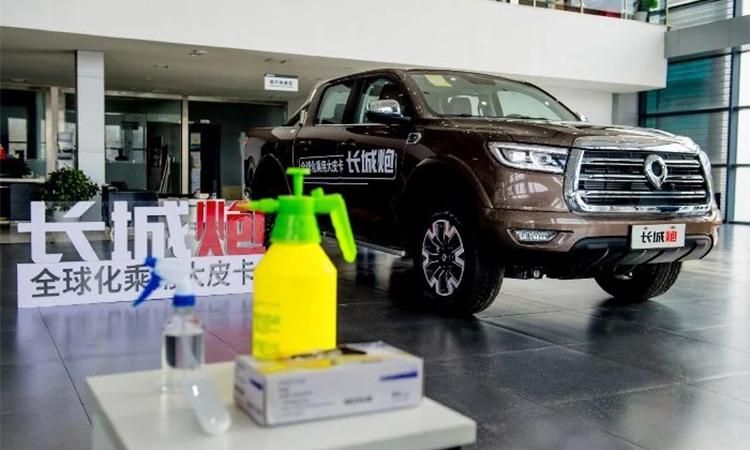 Một đại lý ôtô Great Wall mở cửa trở lại. Ảnh: Automotive News Europe.
