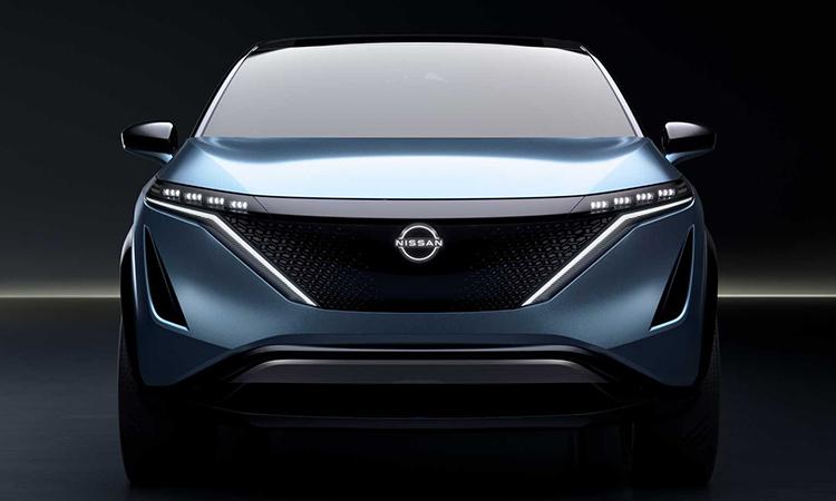 Logo Nissan mới trên mẫu Concept Ariya. Ảnh: Nissan.