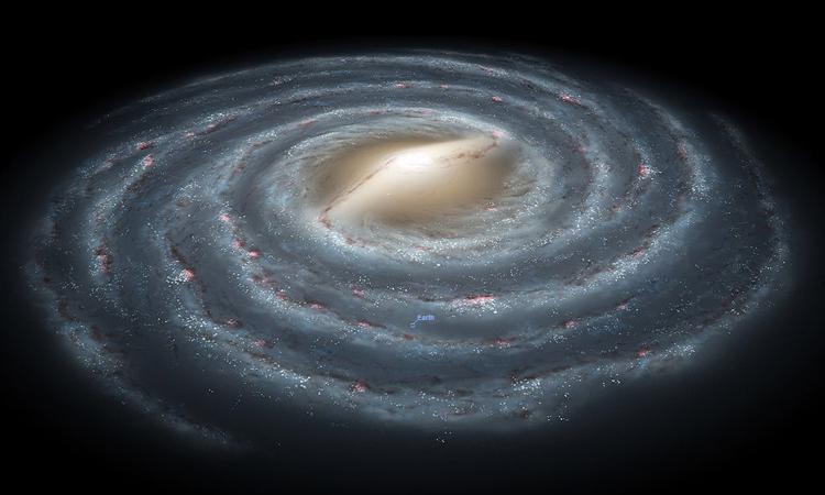 Đường kính của dải Ngân Hà có thể lên đến gần hai triệu năm ánh sáng. Ảnh: Space Answers.
