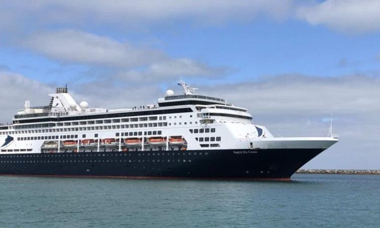 Du thuyềnVasco de Gama tại cảngFremantle ở Tây Australia hôm 20/3. Ảnh: ABC.