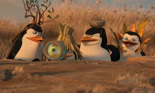 Chim cánh cụt dàn cảnh cướp xe