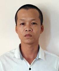 Xuyên tại trụ sở công an. Ảnh: Quang Bình.