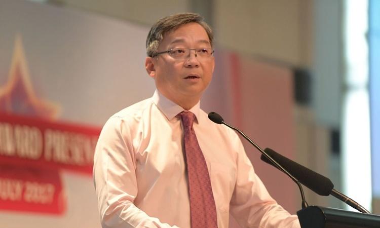 Bộ trưởng Y tế Singapore Gan Kim Yong. Ảnh: Business Times.
