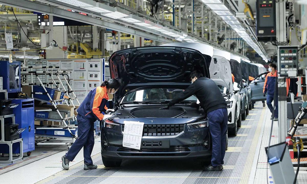 Dây chuyền sản xuất của Polestar trong một nhà máy ở Lộ Kiều, Trung Quốc. Ảnh: Plostar.