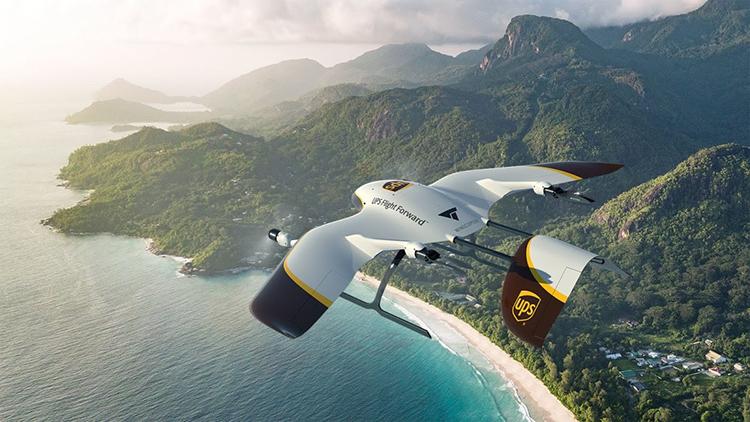 Concept drone giao hàng tốc độ cao do UPS vàWingcopter hợp tác phát triển. Ảnh: Wingcopter.