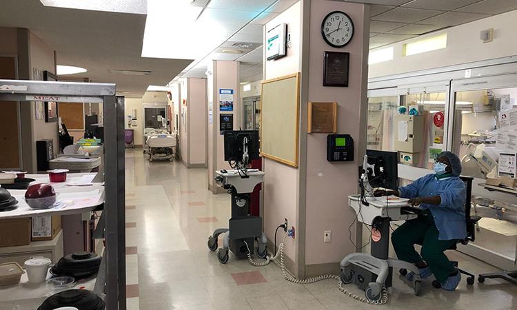 Khu Hồi sức Cấp cứu X tạiTrung tâm Y tếMaimonides ở Brooklyn hôm 25/3. Ảnh: WSJ.