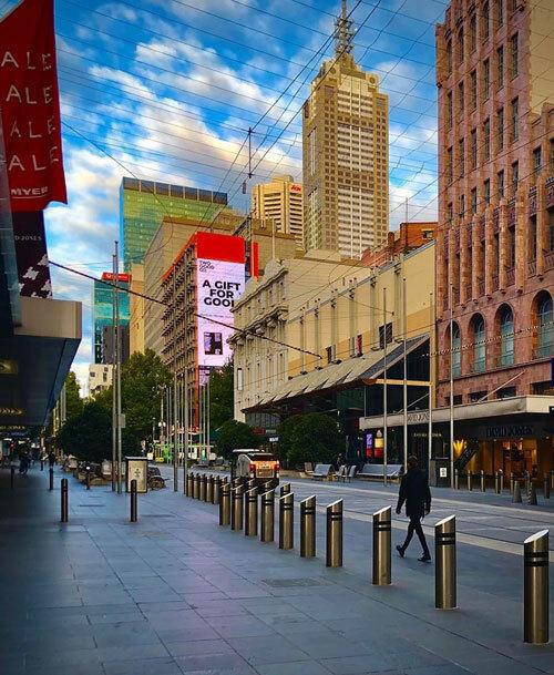 Trung tâm Melbourne vắng vẻ trong những ngày cuối tháng 3. Ảnh: Hải Phạm.