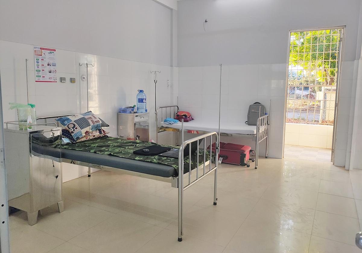 Phòng của Yến ở Bệnh viện Đa khoa tỉnh Bạc Liêu. Ảnh: Nhân vật cung cấp.