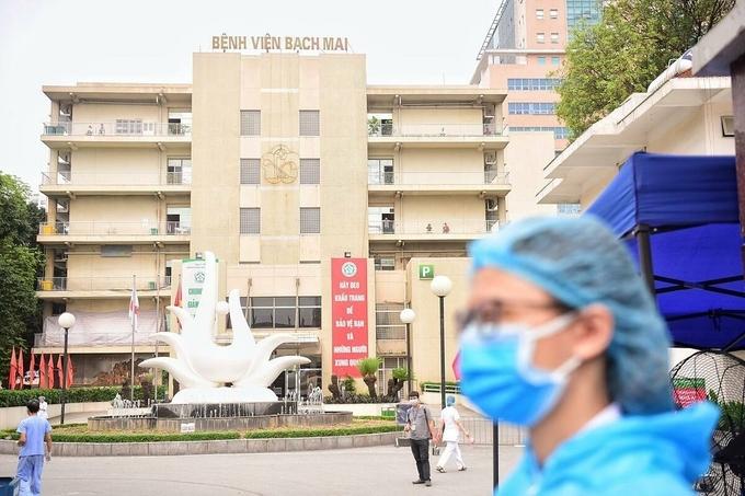 Bệnh viện Bạch Mai cách ly từ 28/3. Ảnh: Giang Huy