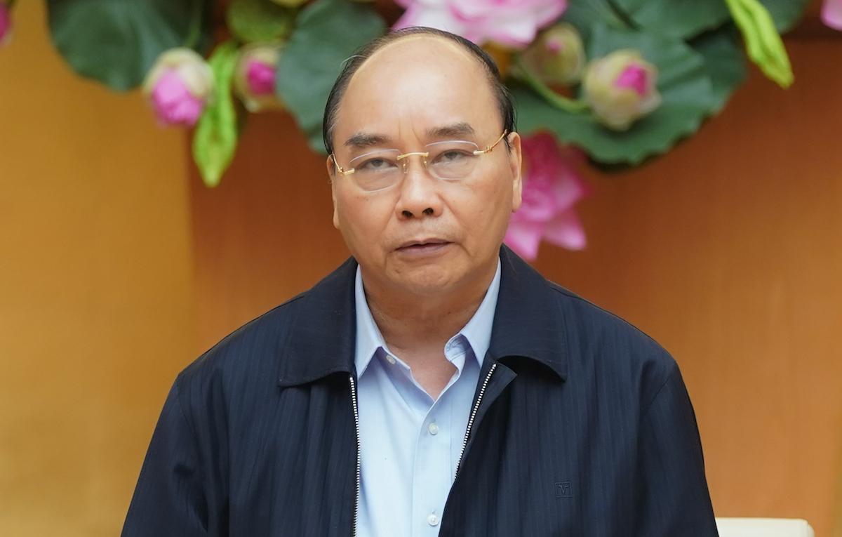 Thủ tướng Nguyễn Xuân Phúc chủ trì họp Thường trực Chính phủ, chiều 30/3. Ảnh: VGP