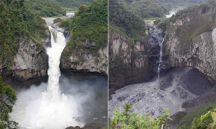 Thác nước cao 150 m biến mất do hố tử thần