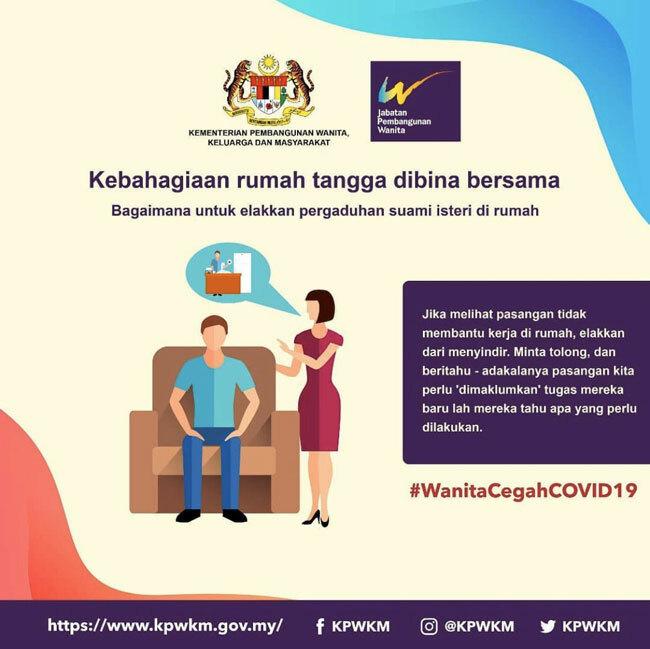 Một áp phích của Bộ Các vấn đề Phụ nữ Malaysia. Ảnh: Kpwkm/Twitter.