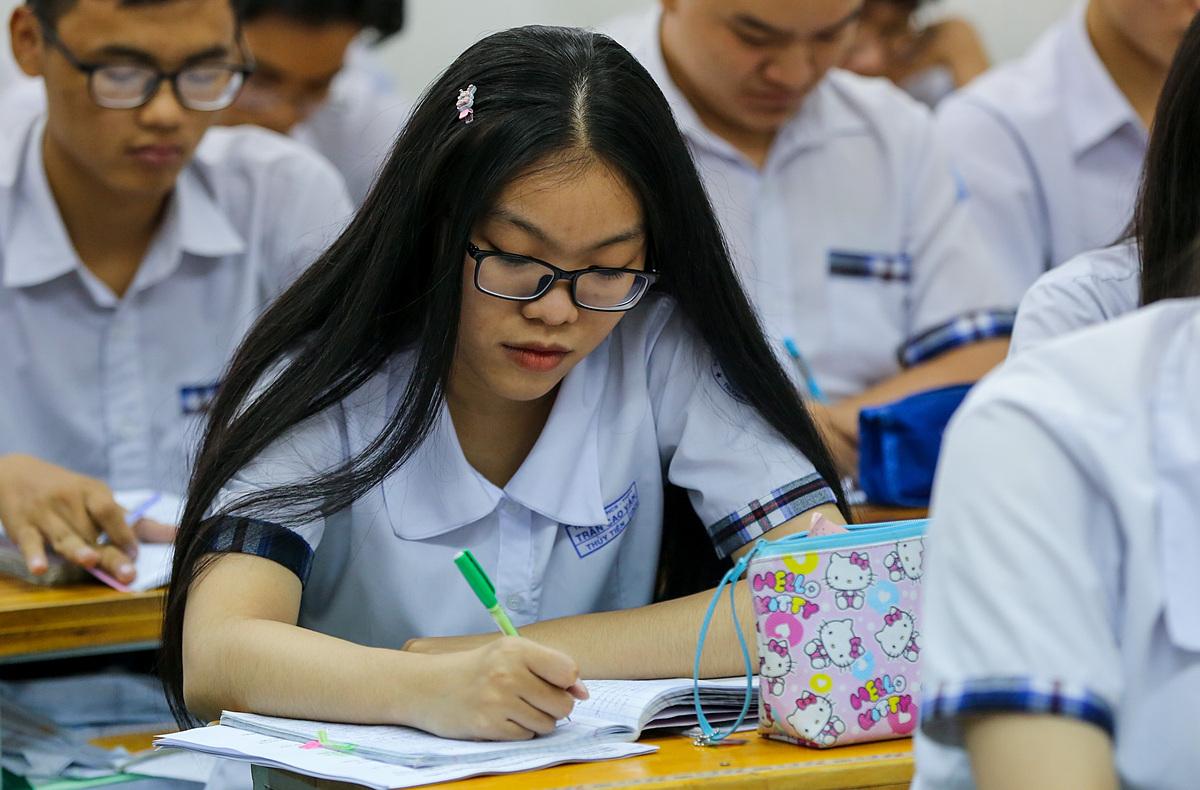 Thí sinhôn thi THPT quốc gia 2019.Ảnh: Quỳnh Trần