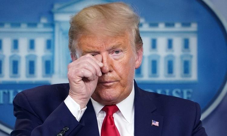 Tổng thống Mỹ Donald Trump tại cuộc họp báo ở Nhà Trắng ngày 31/3. Ảnh: AFP.