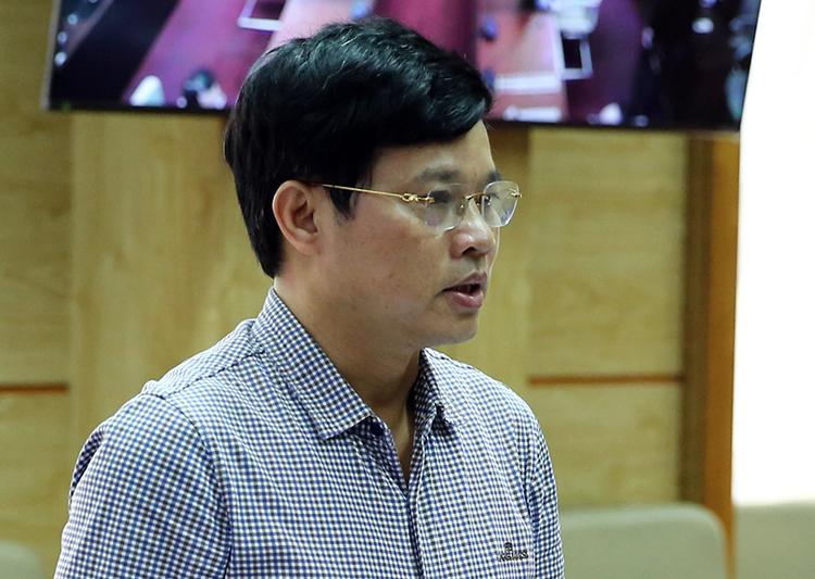 Ông Ngô Văn Quý, Phó chủ tịch UBND TP Hà Nội phát biểu tại cuộc họp Ban chỉ đạo quốc gia chống Covid-19, chiều 1/4. Ảnh: VGP