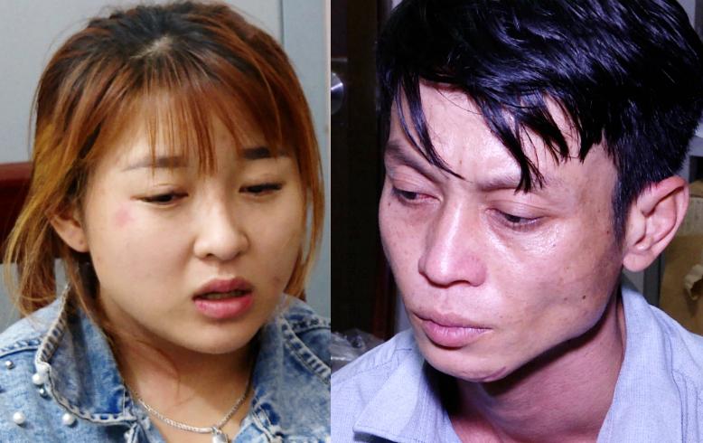 Linh (phải) và Duyên. Ảnh: Quang Bình.