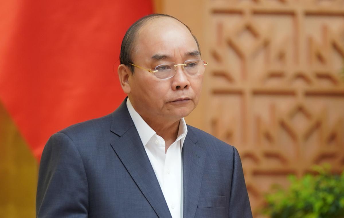 Thủ tướng Nguyễn Xuân Phúc chủ trì họp Chính phủ thường kỳ tháng 3, sáng 1/4. Ảnh: VGP