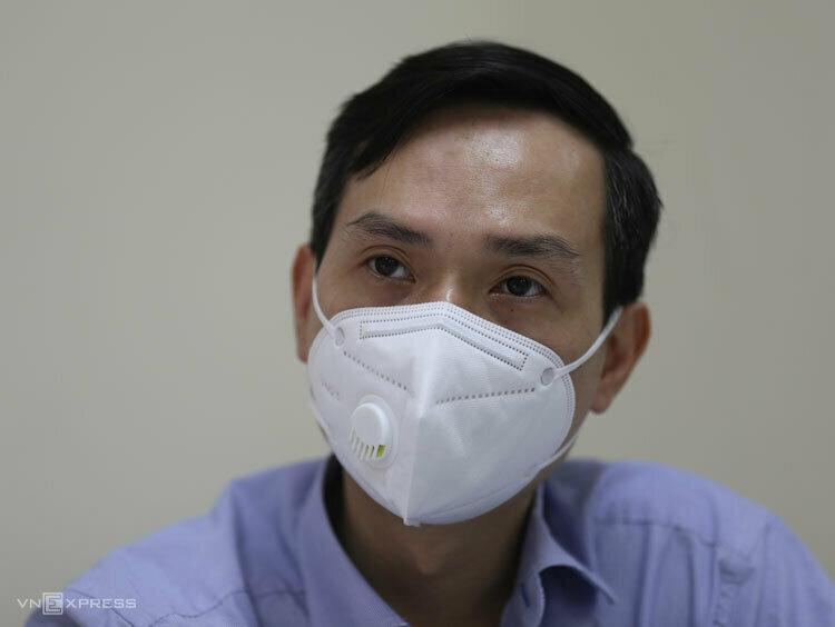 Chủ tịch phường Trúc Bạch, ông Nguyễn Dân Huy. Ảnh: Tất Định.