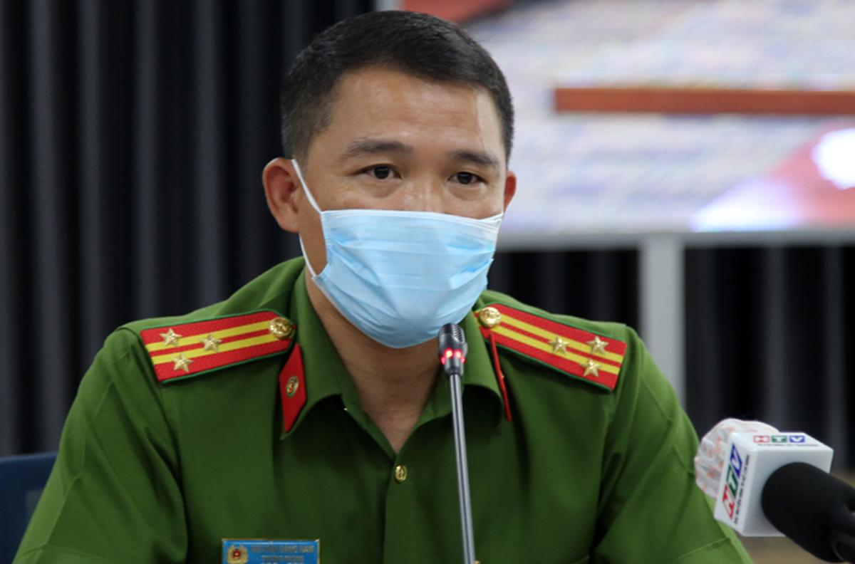 Thượng tá Nguyễn Đăng Nam - Trưởng Phòng cảnh sát Hình sự Công an TP HCM nói về hành trình truy bắt nhóm cướp. Ảnh: Quốc Thắng.