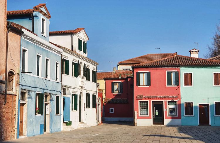 Đảo Burano, Italy vắng khách trong những ngày dịch Covid-19 bùng phát. Ảnh: Vũ Thu Hương.