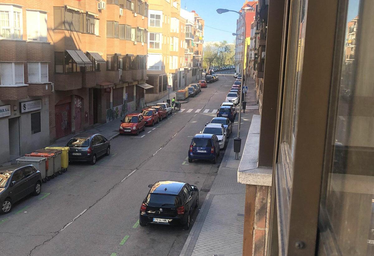 Đường phố tại thủ đô Madrid ngày 3/4. Ảnh: Hải Yến.