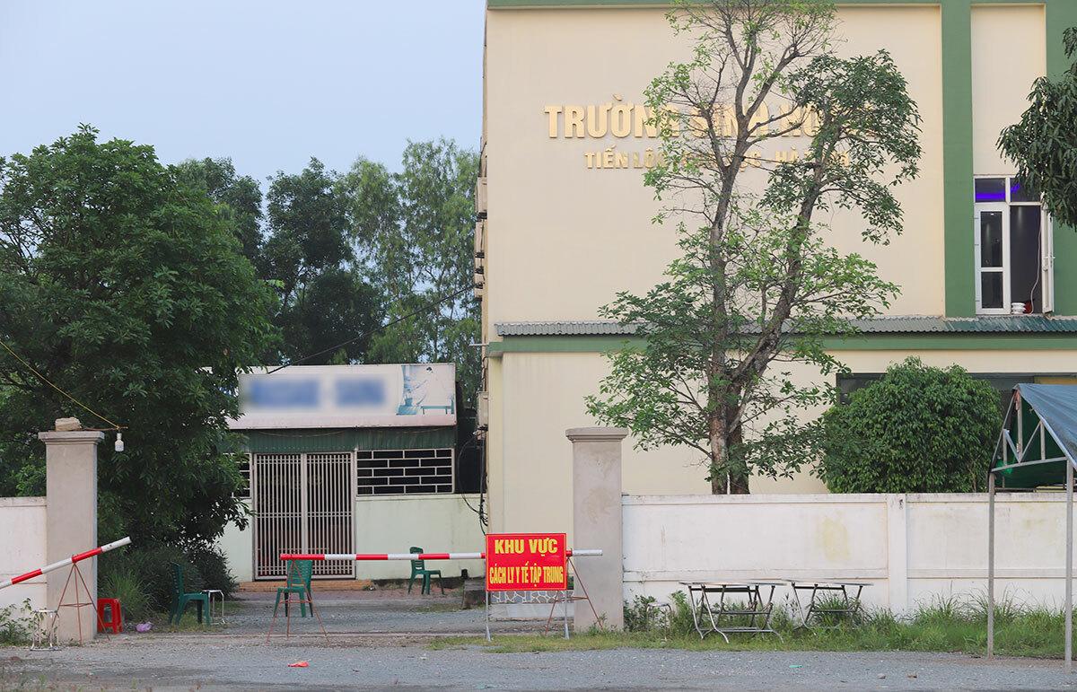 Điểm cách ly tại một cách sạn ở huyện Can Lộc. Ảnh: Đức Hùng