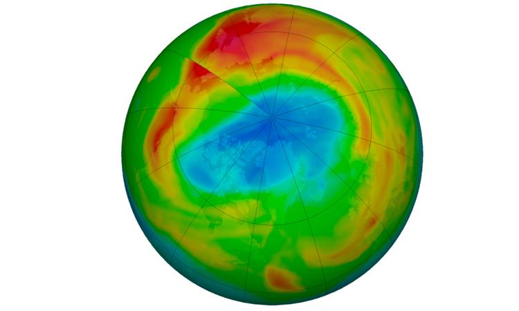 Lỗ hổng ozone lớn kỷ lục xuất hiện ở Bắc Cực