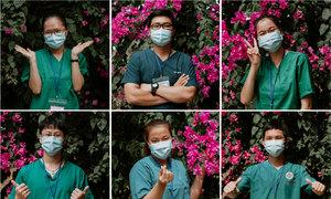 Nhân viên y tế trẻ trong dịch