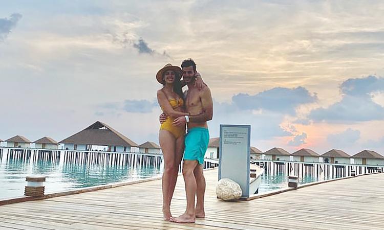 Vợ chồngDe Freitas tại khu nghỉ dưỡng ở Maldives. Ảnh:Raul De Freitas.