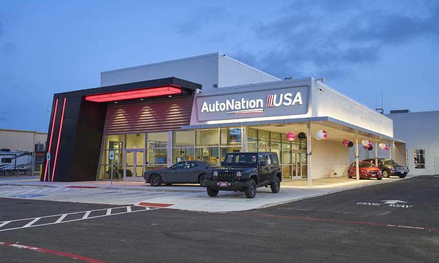 Một chi nhánh đại lý AutoNation ở bang Texas. Ảnh: AutoNation