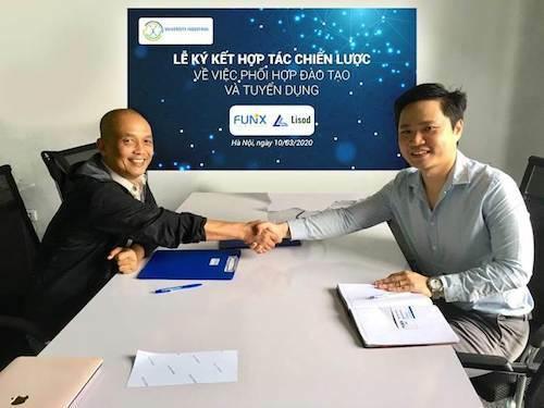 Công ty TNHH Lisod Vietnam trở thành đối tác của FUNiX trong đào tạo và tuyển dụng CNTT.