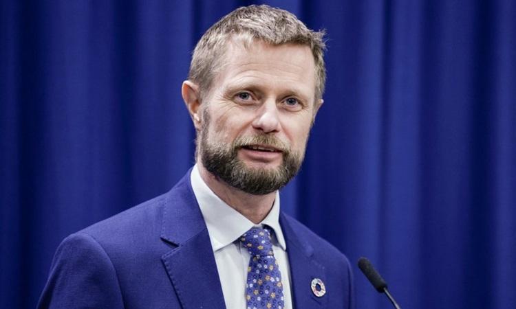 Bộ trưởng Y tế Na UyBent Hoie. Ảnh: Norway Today.