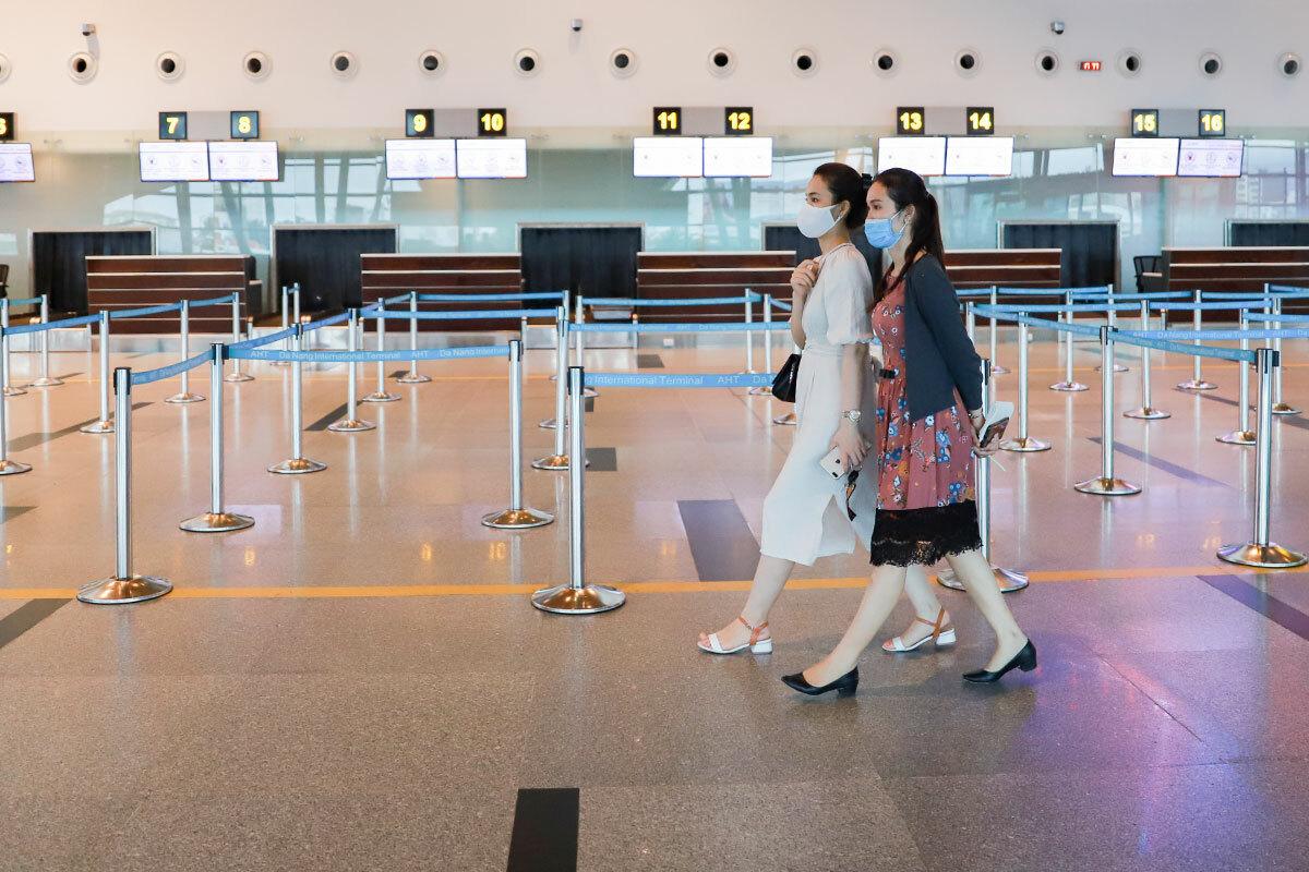 Nhà ga sân bay quốc tế Đà Nẵng vắng khách từ đầu tháng 3. Ảnh: Nguyễn Đông.