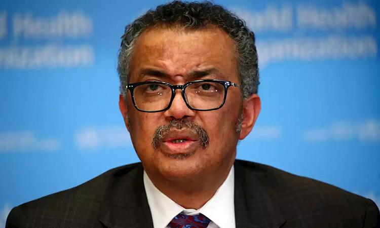 Tổng giám đốc WHO Tedros Adhanom Ghebreyesus trong cuộc họp báo ởGeneva, Thụy Sĩ hôm 28/2. Ảnh: Reuters.
