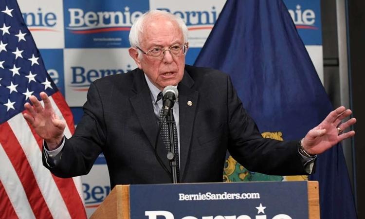 Thượng nghị sĩBernie Sanders tạiVermont, Mỹ ngày 12/3. Ảnh: Reuters.