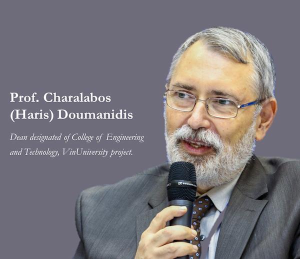 Giáo sư Doumanidis Charalabos Constantinos nhấn mạnh, VinUni mong muốn đào tạo những người có tính tiên phong, tạo được khát vọng cho người khác.