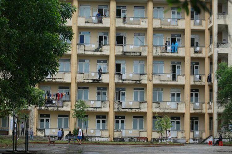 Ký túc xá Đại học Hà Tĩnh, nơi nhiều lưu học sinh Lào ở nội trú. Ảnh: Gia Hân