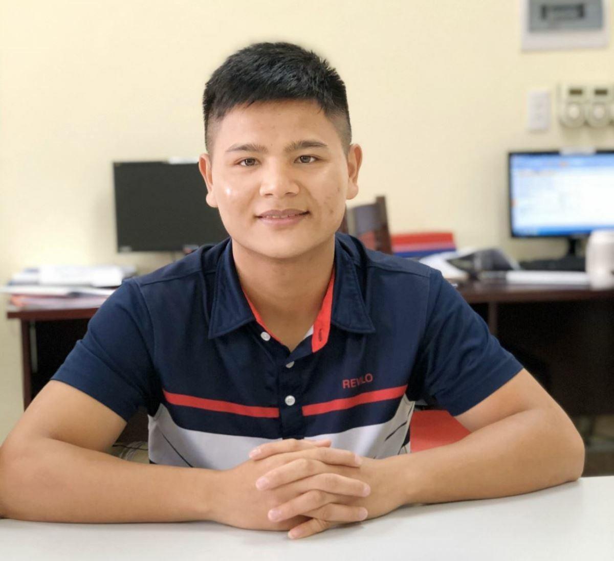 Thiếu úy Nguyễn Xuân Thạnh. Ảnh: U.B