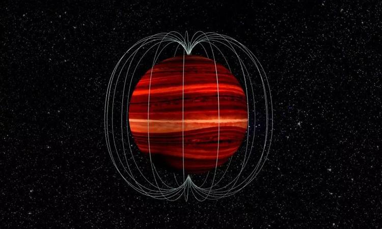 Đồ họa mô phỏng sao lùn nâu2MASS J1047 + 21. Ảnh: Newsweek.