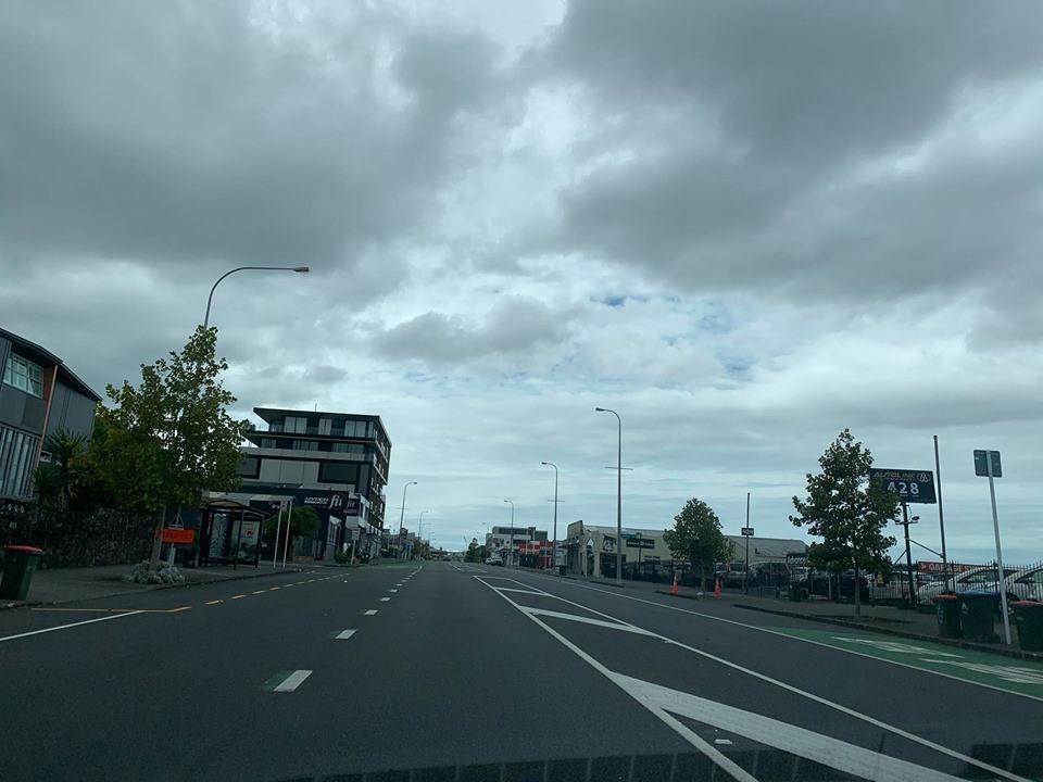 Đường phố New Zealand vắng vẻ sau lệnh cách ly toàn quốc.