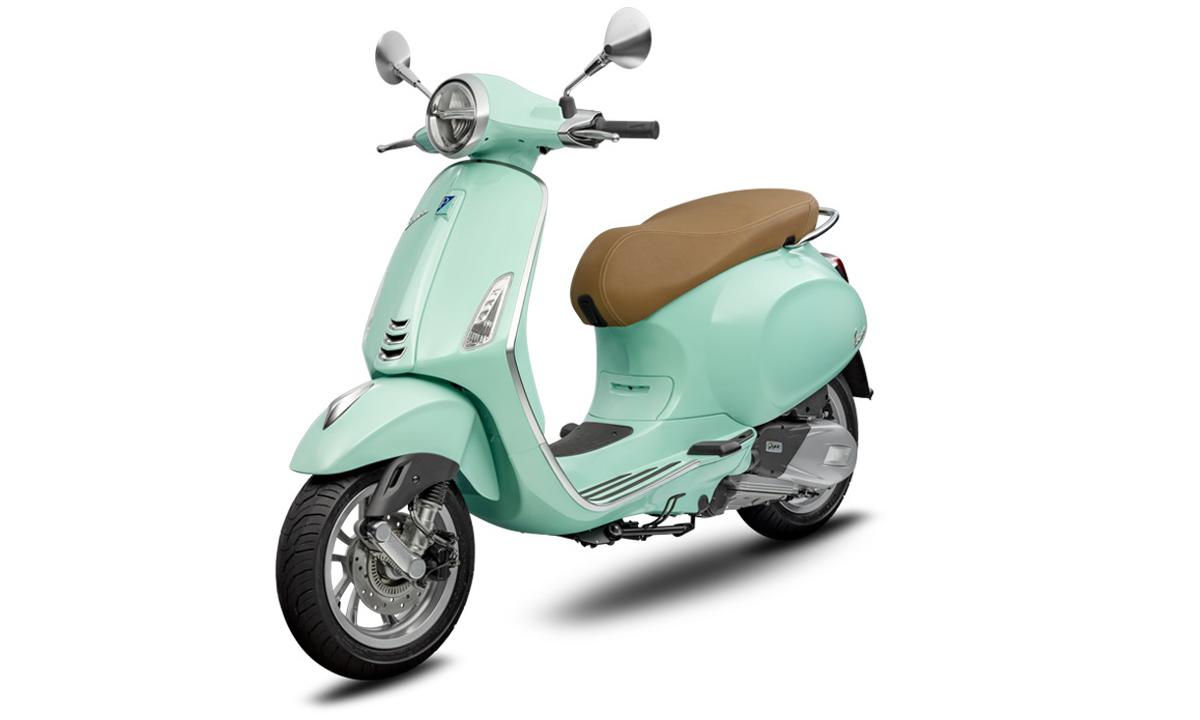 Primavera 2020 bản tiêu chuẩn thêm màu xanh bạc hà. Ảnh: Vespa.