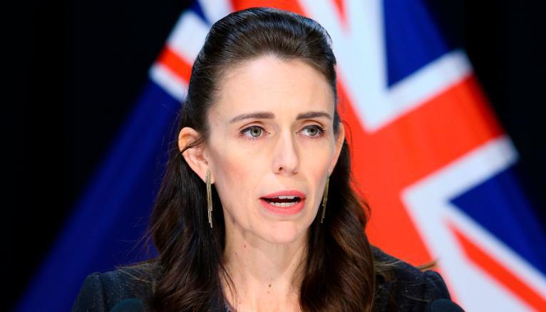 Thủ tướng New Zealand Jacinda Ardern trong cuộc họp báo hôm 9/4 tại thủ đô Wellington. Ảnh: Hagen Hopkins