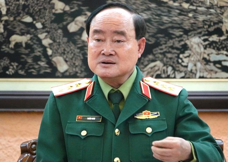 Thượng tướng Trần Đơn, Thứ trưởng, trưởng Ban phòng chống Covid-19 của Bộ Quốc phòng. Ảnh: Hoàng Thuỳ