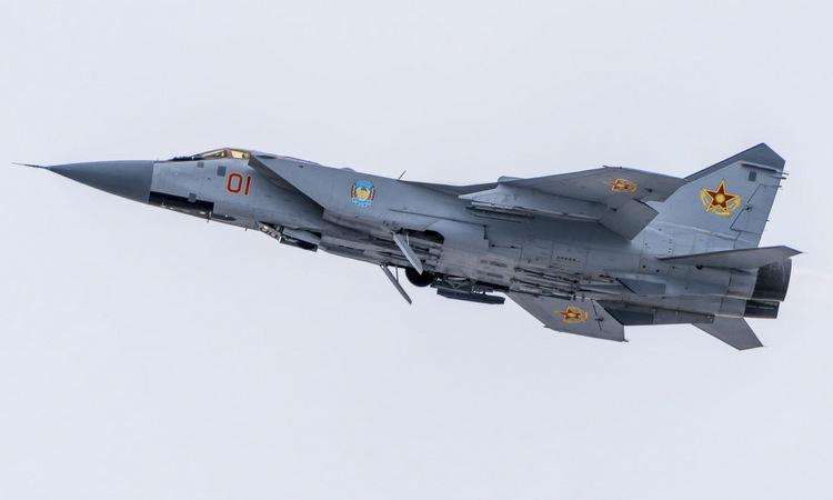 Tiêm kích MiG-31 của Kazakhstan. Ảnh: Kazinform.
