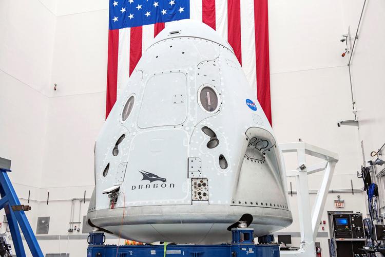 Tàu vũ trụ Crew Dragon của công ty hàng không vũ trụ SpaceX. Ảnh: SpaceX.