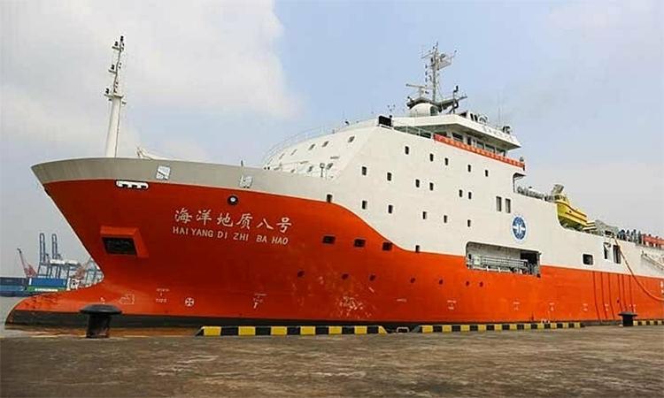 Tàu khảo sát Địa Chất Hải Dương 8. Ảnh: CGS.